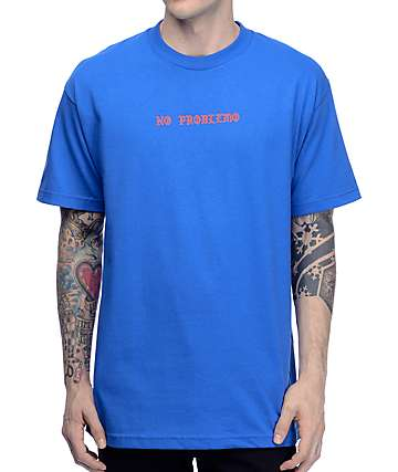 Know Bad Daze No Problemo Blue T-Shirt