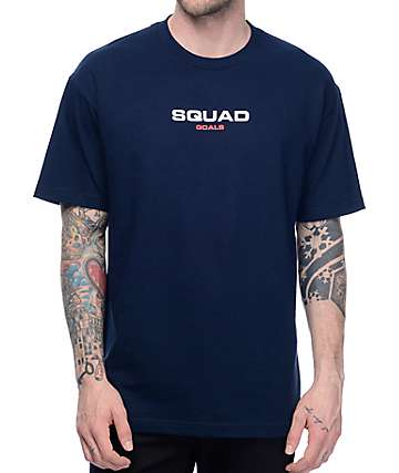 Know Bad Daze Squad Goals Navy T-Shirt