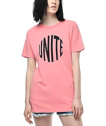 Know Bad Daze Unite camiseta rosa