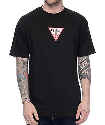 Know Bad Daze Vibes Black T-Shirt