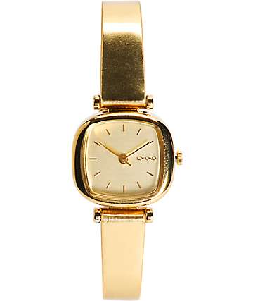 Komono Moneypenny Metallic Gold Analog Watch
