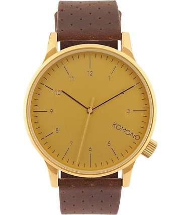 Komono Winston Gold Analog Watch