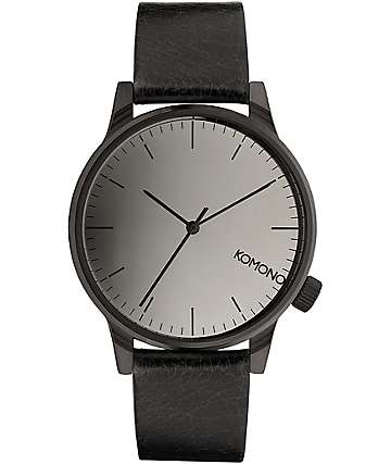 Komono Winston Mirror Black Analog Watch
