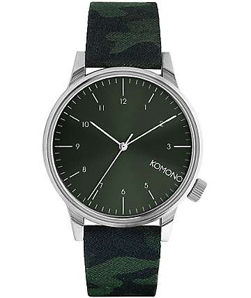 Komono Winston Print Camo Green Watch