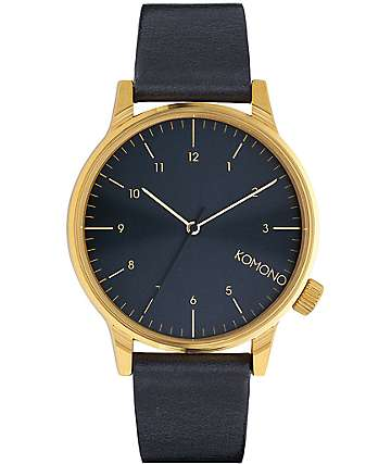 Komono Winston Regal Blue Analog Watch