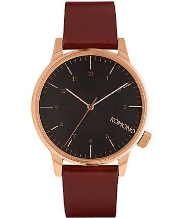 Komono Winston Regal Burgundy Watch