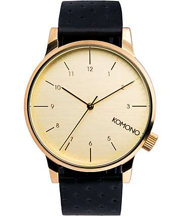 Komono Winston Zirconium Analog Watch