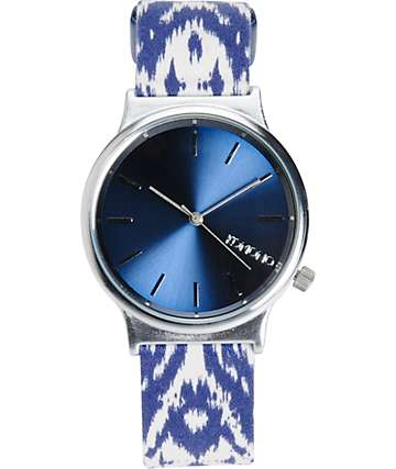 Komono Wizard Batik Blues Analog Watch