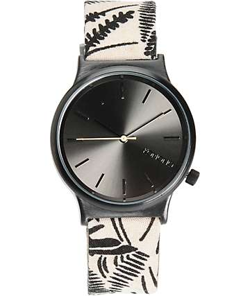 Komono Wizard Black Palms Analog Watch