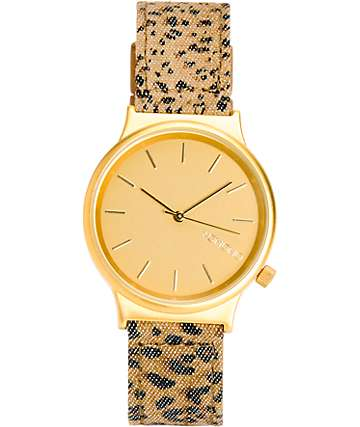 Komono Wizard Print Leopard Analog Watch