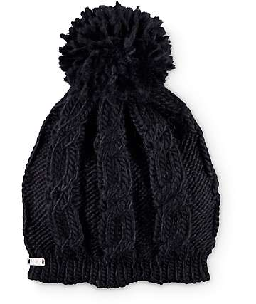 Krochet Kids Poppy Black Pom Beanie