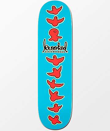 "Krooked Birdical Blue 8.5""  Skateboard Deck"