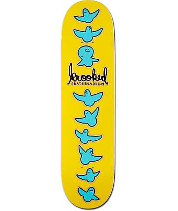 "Krooked Birdical Yellow 8.06""  Skateboard Deck"