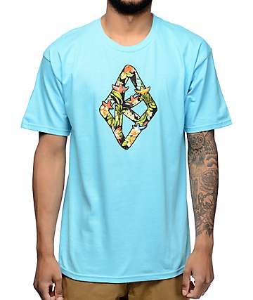 Krooked Birds Of Paradise Blue T-Shirt