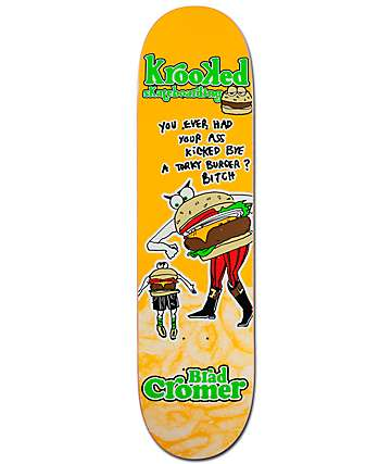 "Krooked Cromer Flying Burger 8.06"" Skateboard Deck"