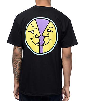 Krooked Moon Smile Black T-Shirt