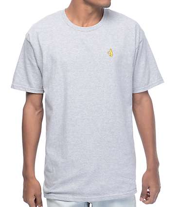 Krooked Shmolo Embroidered Heather Grey T-Shirt