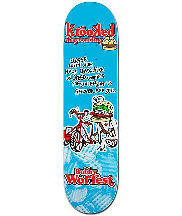 "Krooked Worrest Flying Burger 8.12"" Skateboard Deck"