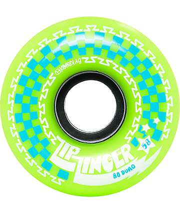 Krooked Zip Zinger 58mm 80a Green Skateboard Wheels