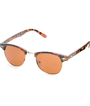 Kruz Brown Tortoise Shell & Rose Gold Sunglasses