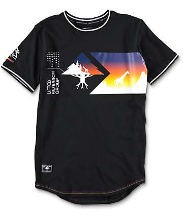 LRG  Boys Sunset Tree Knit Black T-Shirt