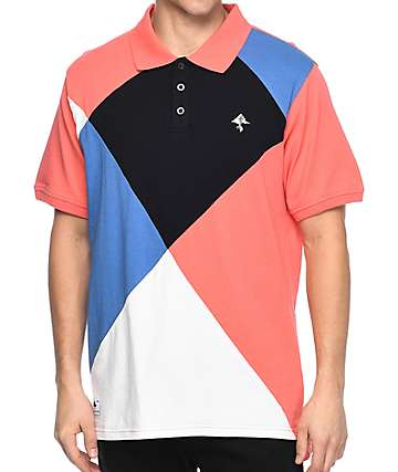 LRG Argyle Dimensions Salmon Polo Shirt