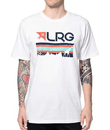 LRG Astro Stripe White T-Shirt