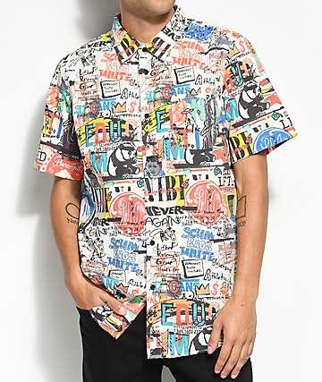 LRG Bosski All Over Printed camisa tejida