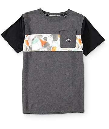 LRG Boys Coca Camo Pocket T-Shirt