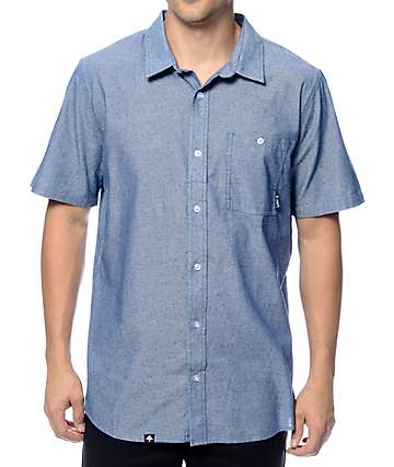 LRG Defender Blue Button Up Shirt