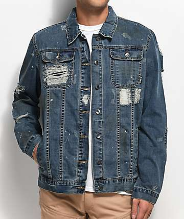 LRG Destroyed Blue Denim Jacket
