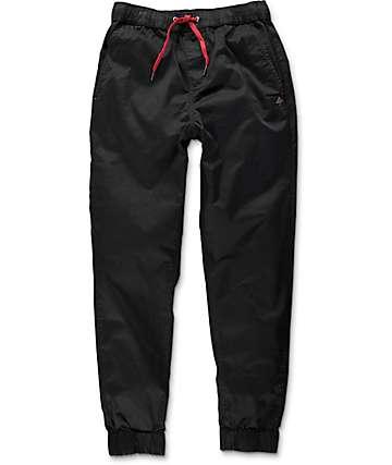 LRG Game Changer pantalones jogger de tela asargada negra
