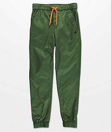 LRG Game Changer pantalones jogger de tela asargada olivo