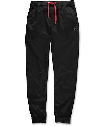 LRG Gamechanger 2 Black Twill Jogger Pants