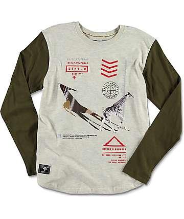 LRG Infantree camiseta raglan en gris para niños