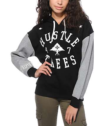 LRG Lifted Black & Grey Dolman Hoodie