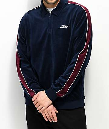 LRG Lifted Blue Velour Zip Track Jacket