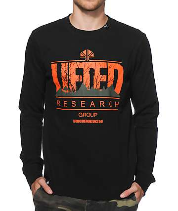 LRG Lifted Motherland Black Long Sleeve Thermal Shirt