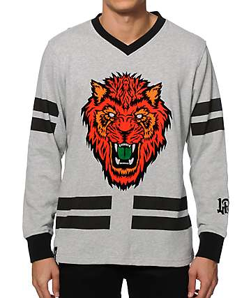 LRG Los Gatos Hockey Jersey Crew Neck Sweatshirt