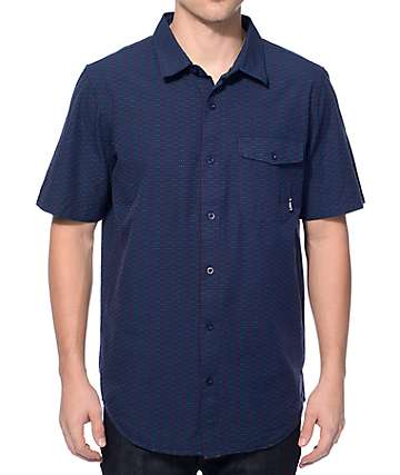 LRG Luxton Navy Button Up Shirt