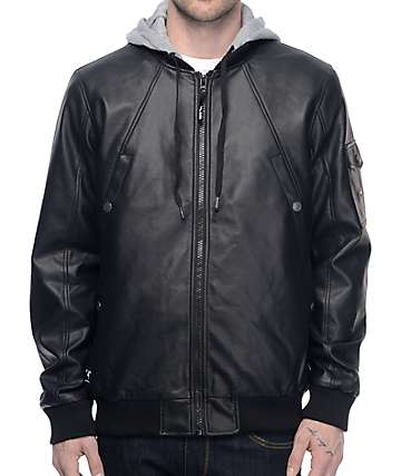 LRG Mastermind Black & Athletic Grey Bomber Jacket