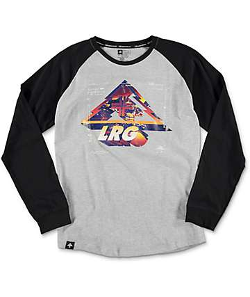 LRG Mighty Vision Ash Heather Grey Raglan Boys T-Shirt