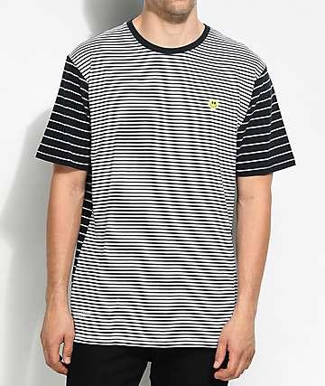 LRG Nevermind camiseta a rayas en blanco y negro
