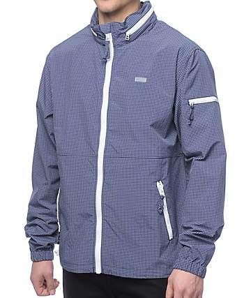 LRG Parallel Grid chaqueta cortavientos en azul marino