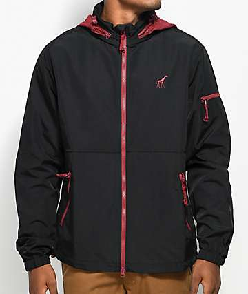 LRG RC Black & Burgundy Windbreaker Jacket