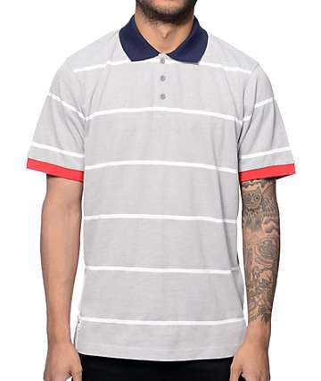 LRG RC Striped Ash Grey Polo Shirt