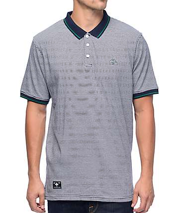 LRG Resolution Striped Navy Polo
