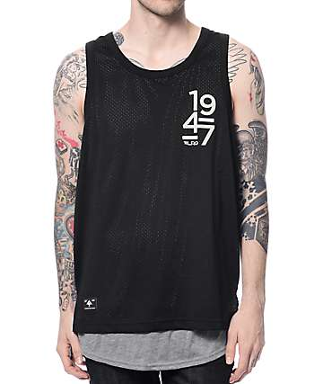 LRG Rockwell Drop Tail Black Tank Top