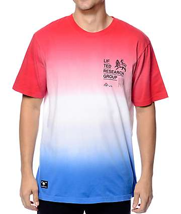 LRG Roots Rock Watermelon Tie Dye T-Shirt