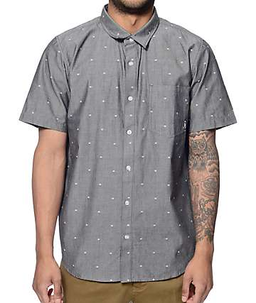 LRG Scattered Black Button Up Shirt